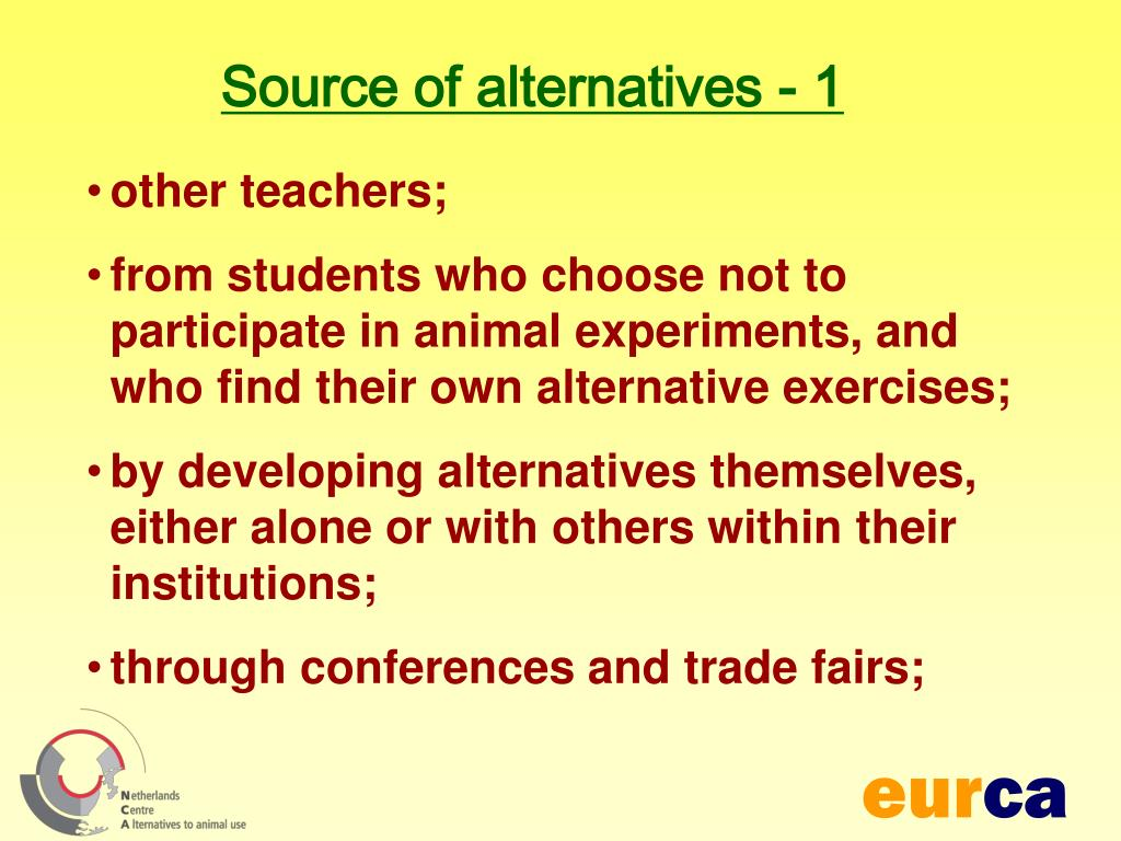 Source of alternatives - 1