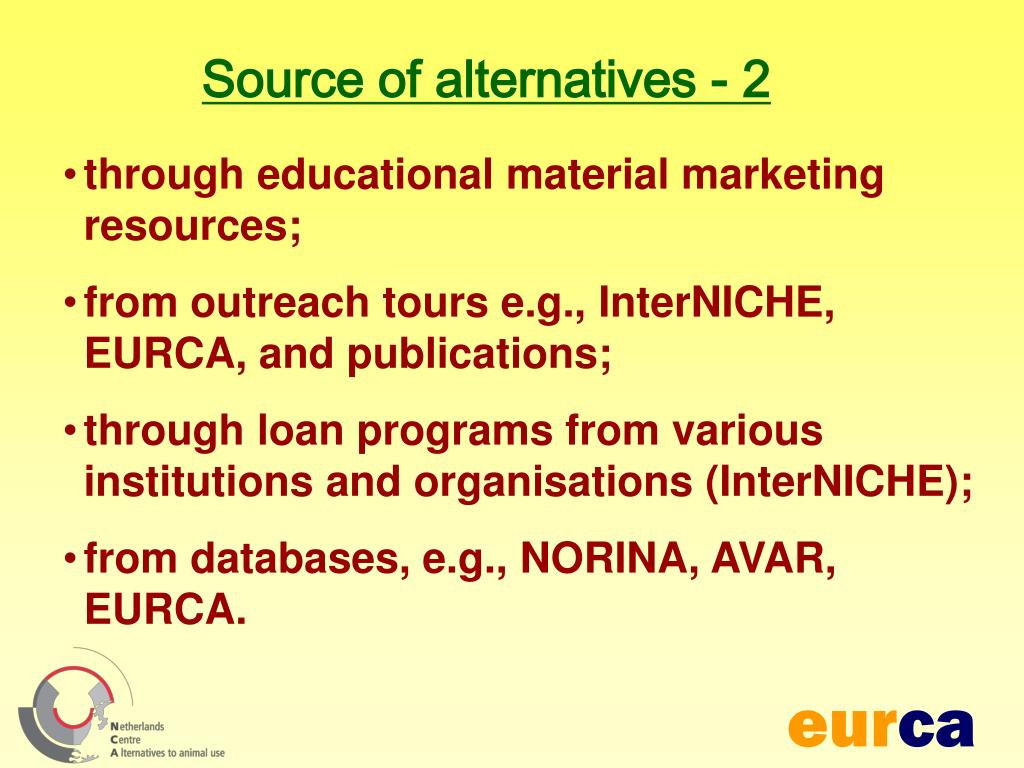 Source of alternatives - 2