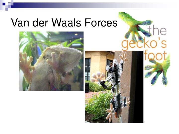 Van der Waals Forces!