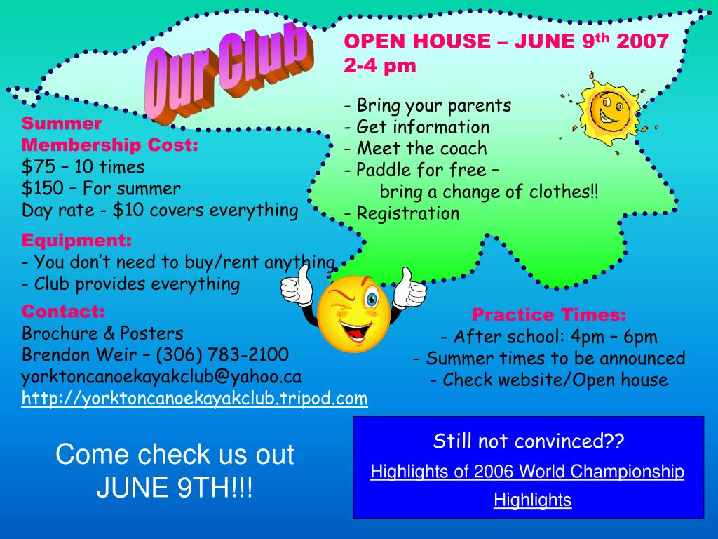 OPEN HOUSE – JUNE 9