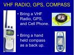 vhf radio gps compass