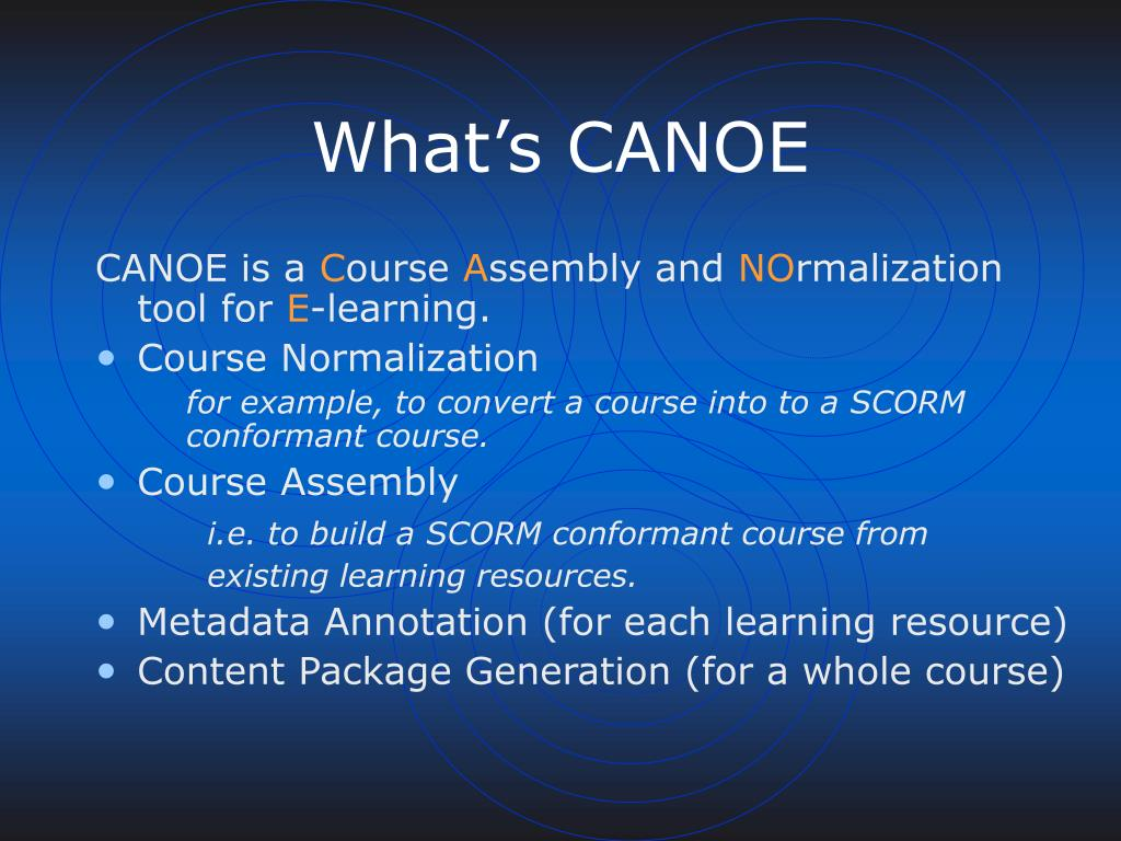 What's CANOE