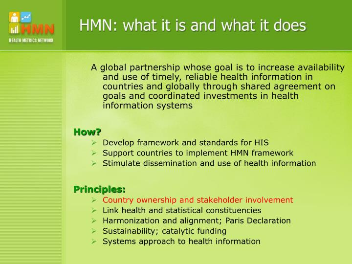 HMN: what it is and what it does