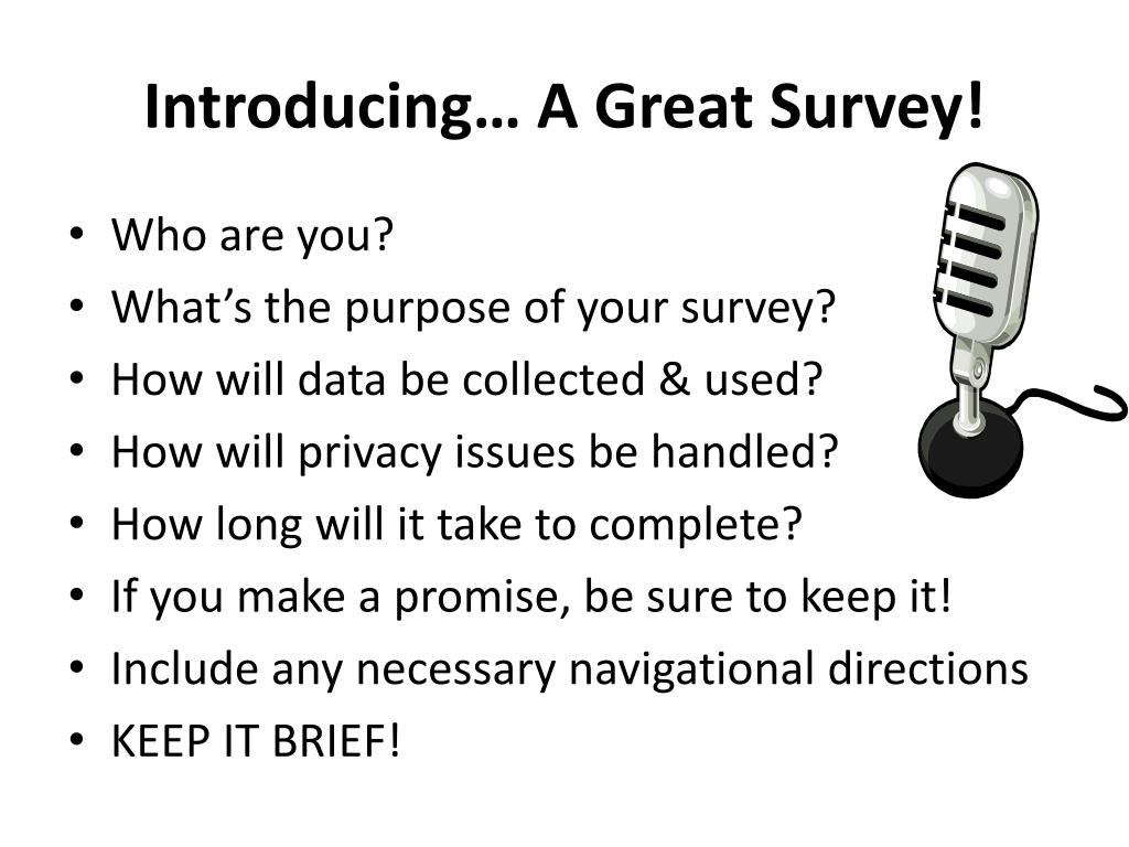 Introducing… A Great Survey!