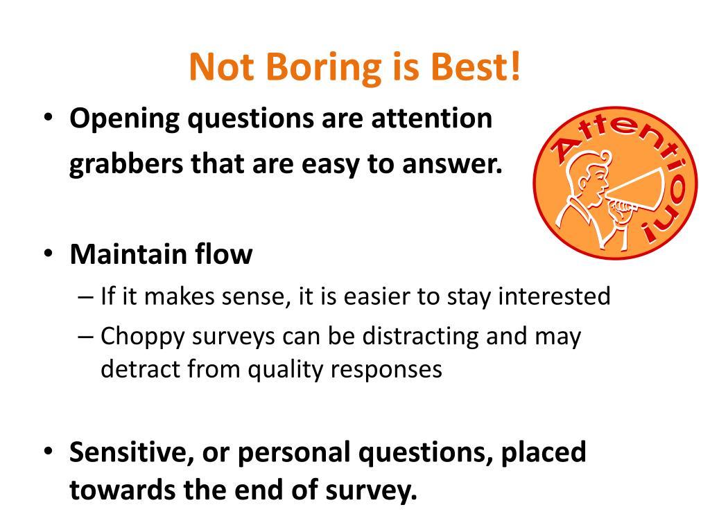 Not Boring is Best!