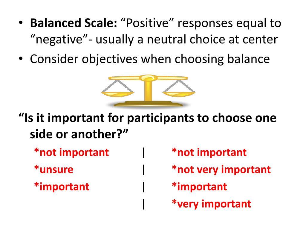 Balanced Scale: