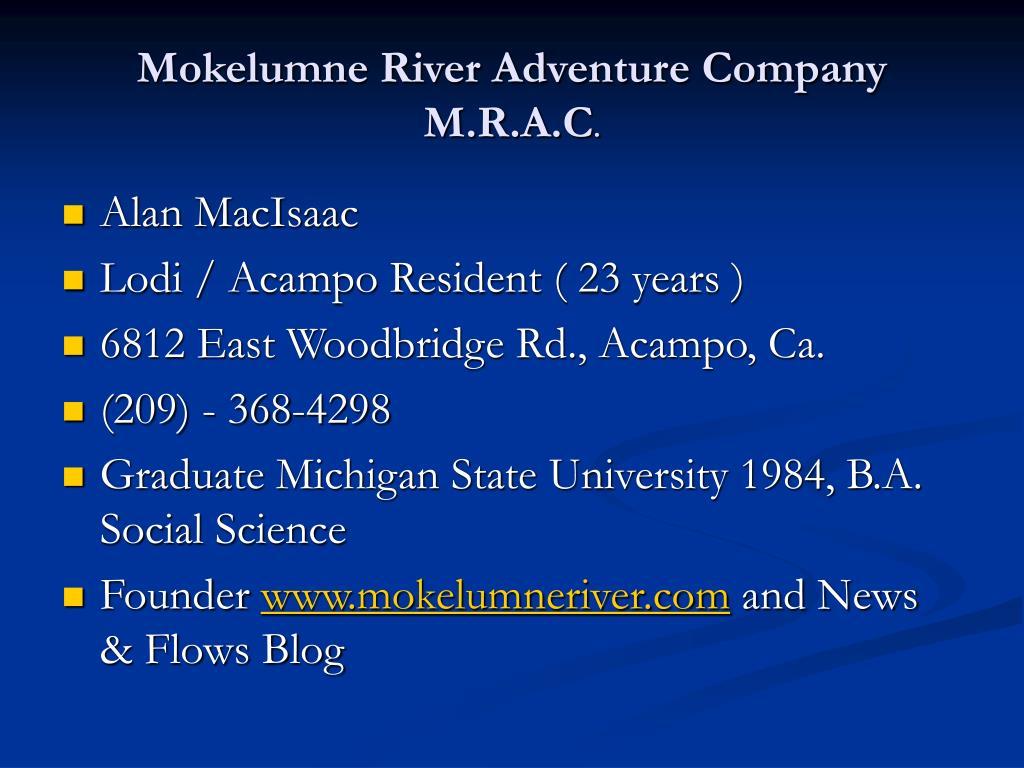 Mokelumne River Adventure Company