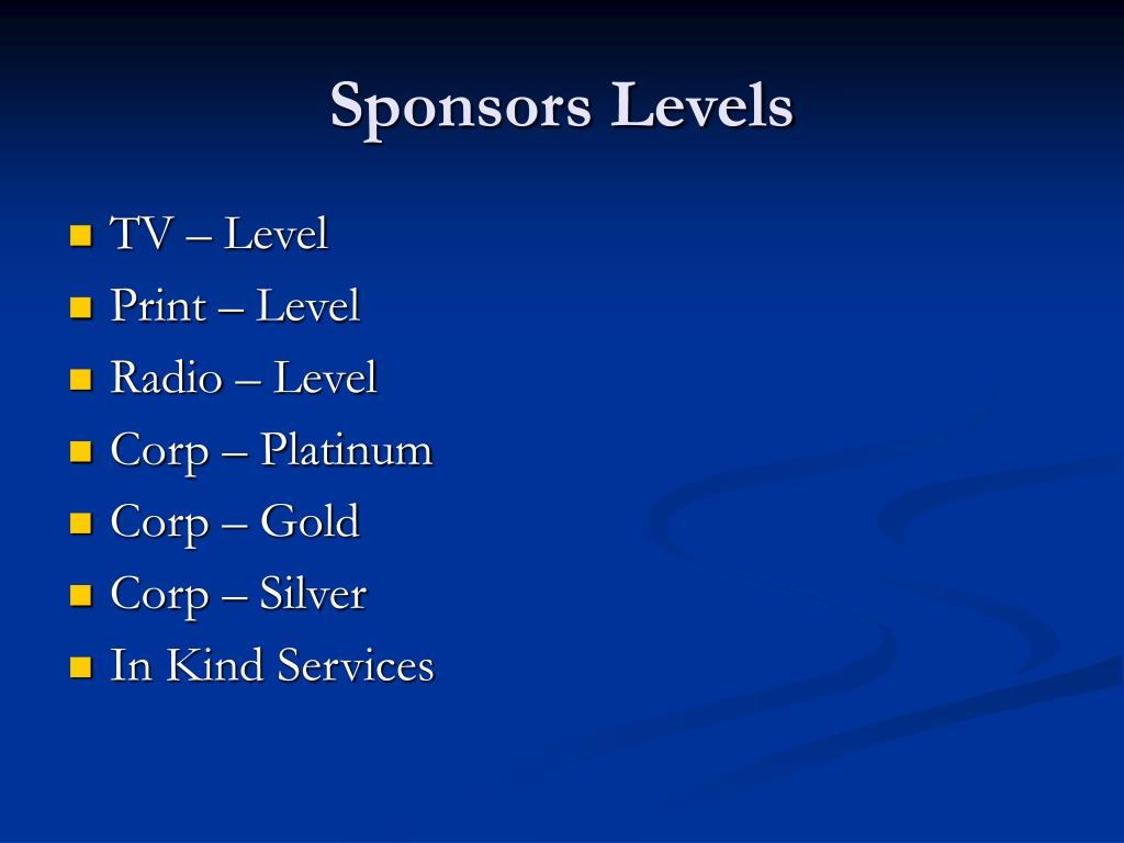Sponsors Levels