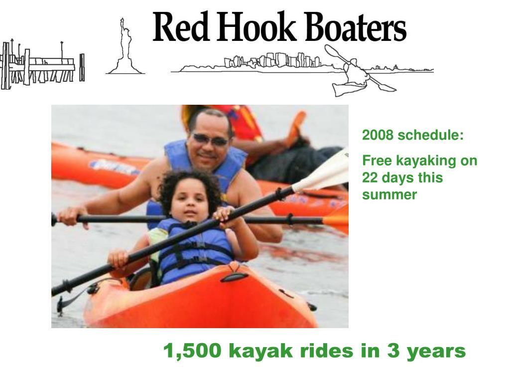 2008 schedule: