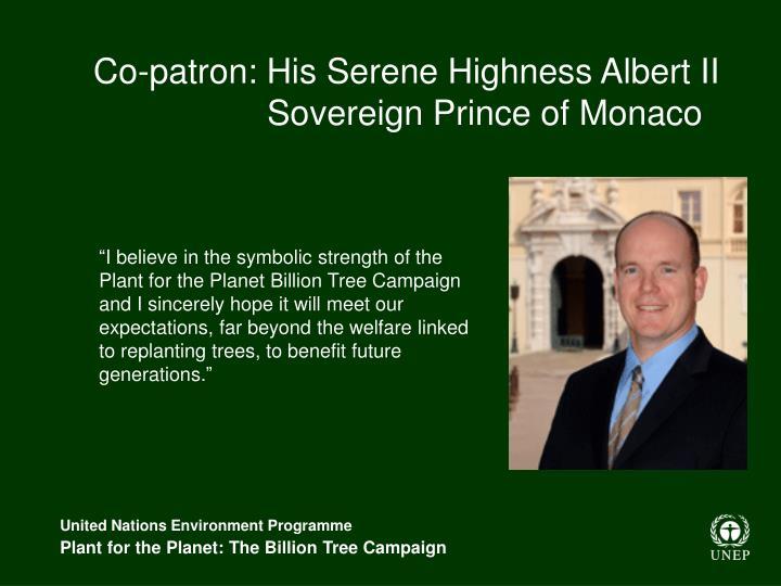 Co-patron: His Serene Highness Albert II