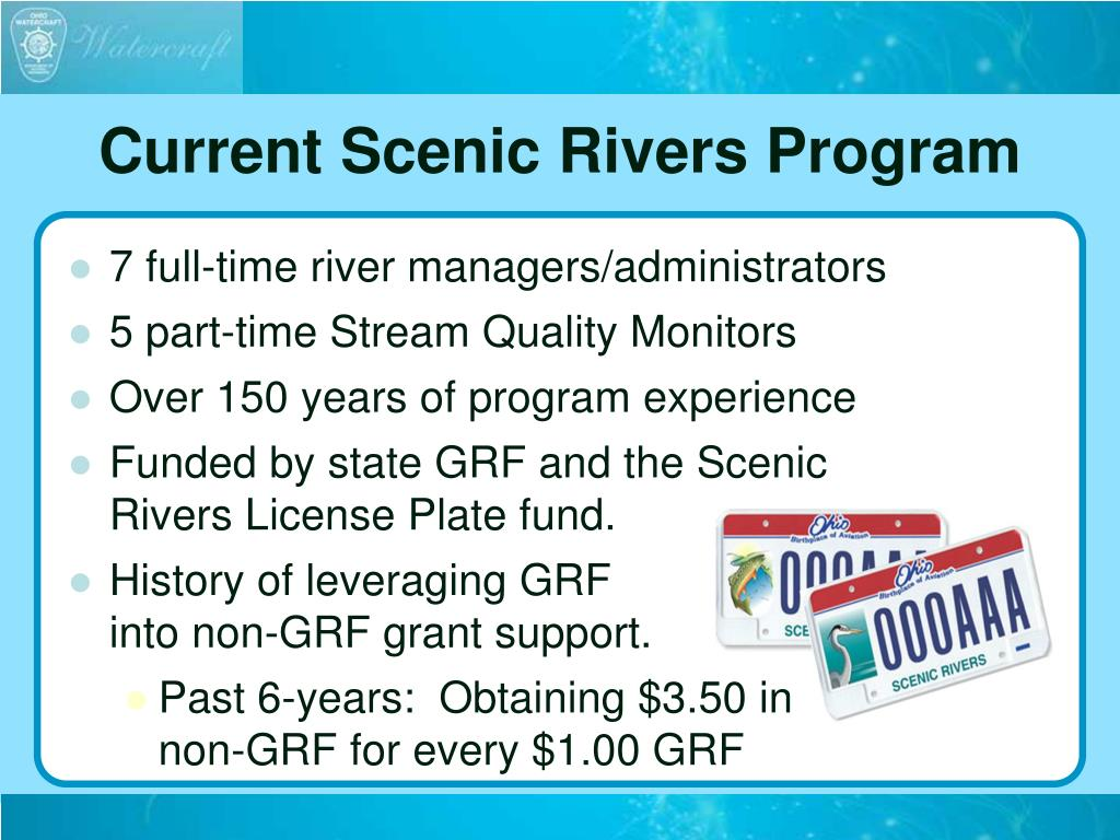 Current Scenic Rivers Program