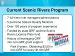current scenic rivers program
