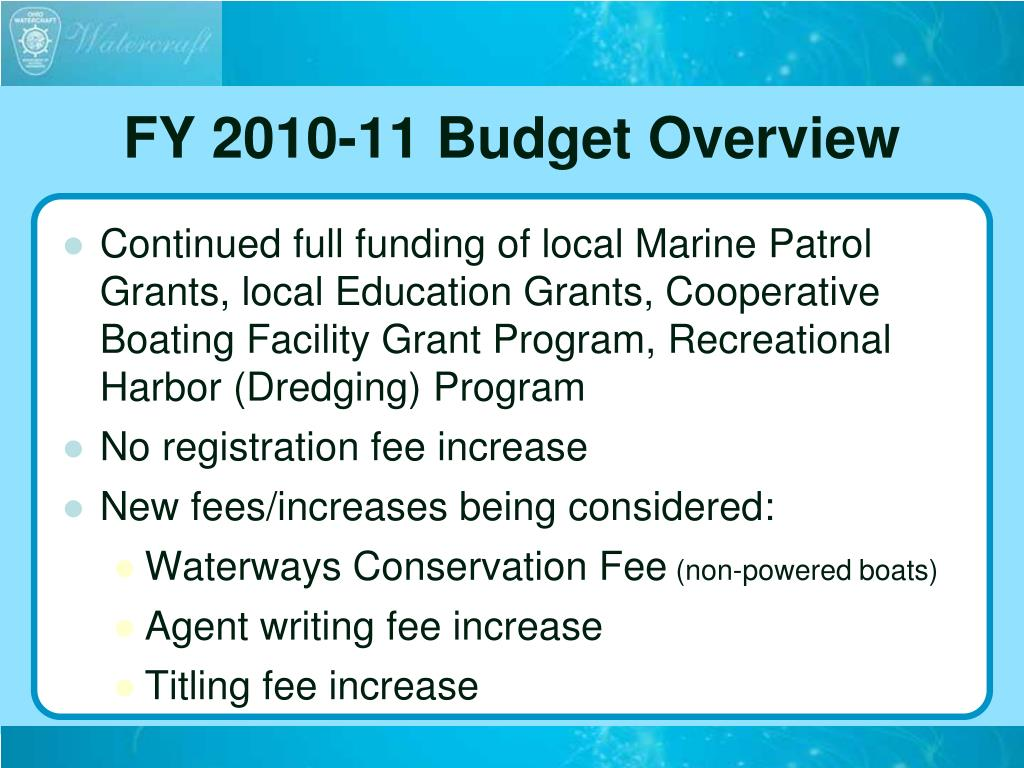 FY 2010-11 Budget Overview
