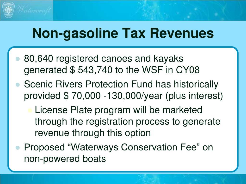 Non-gasoline Tax Revenues