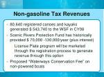 non gasoline tax revenues