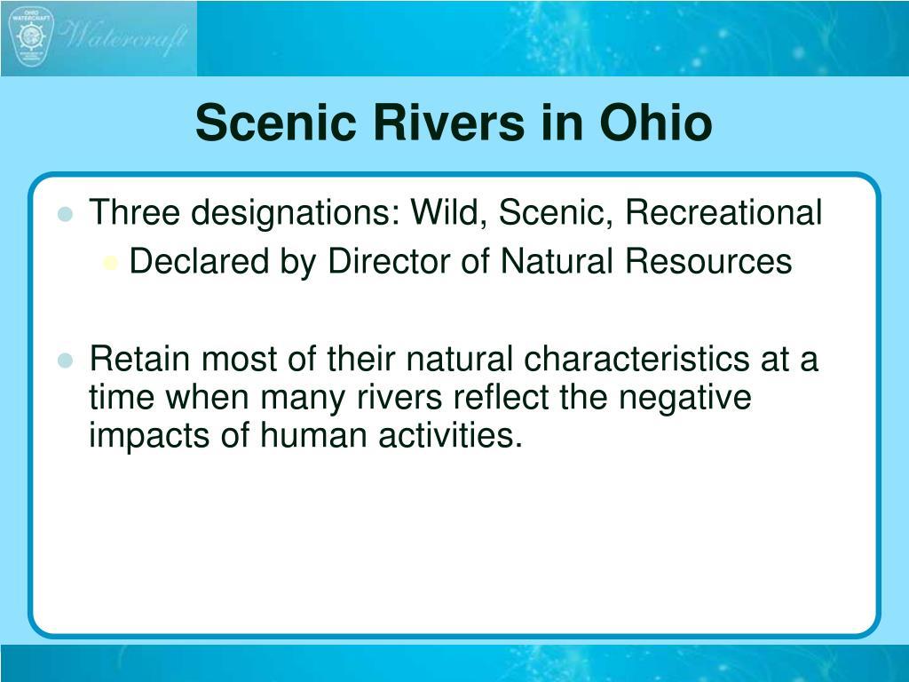 Scenic Rivers in Ohio