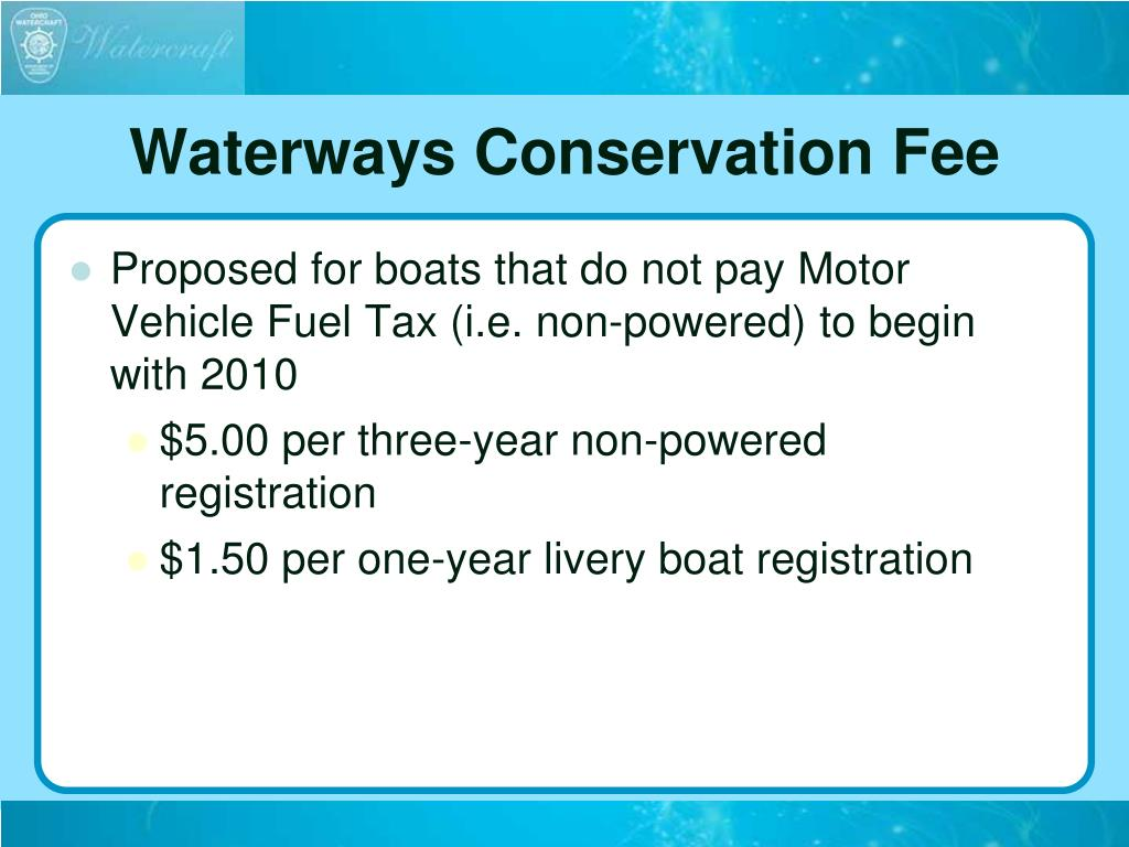 Waterways Conservation Fee