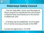 waterways safety council