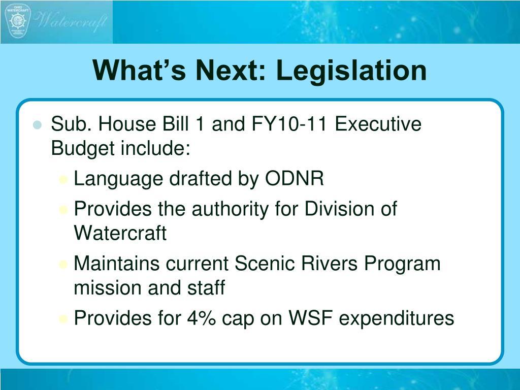 What's Next: Legislation