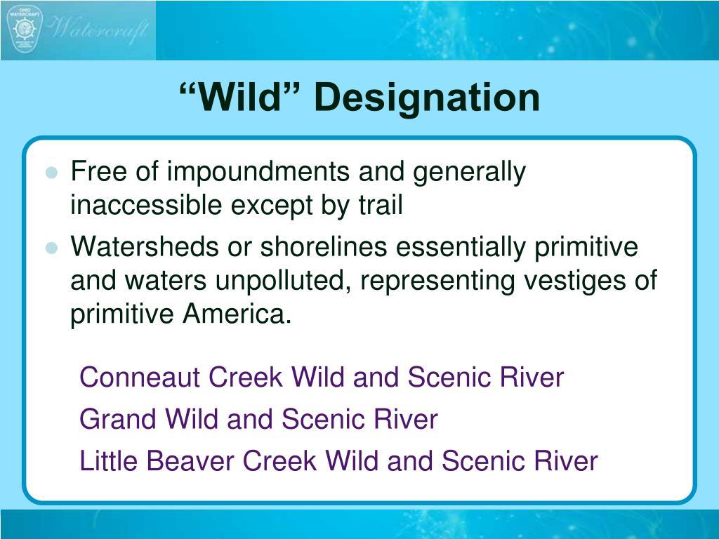 """""""Wild"""" Designation"""
