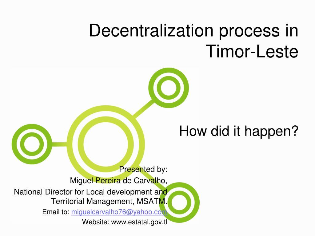 Decentralization process