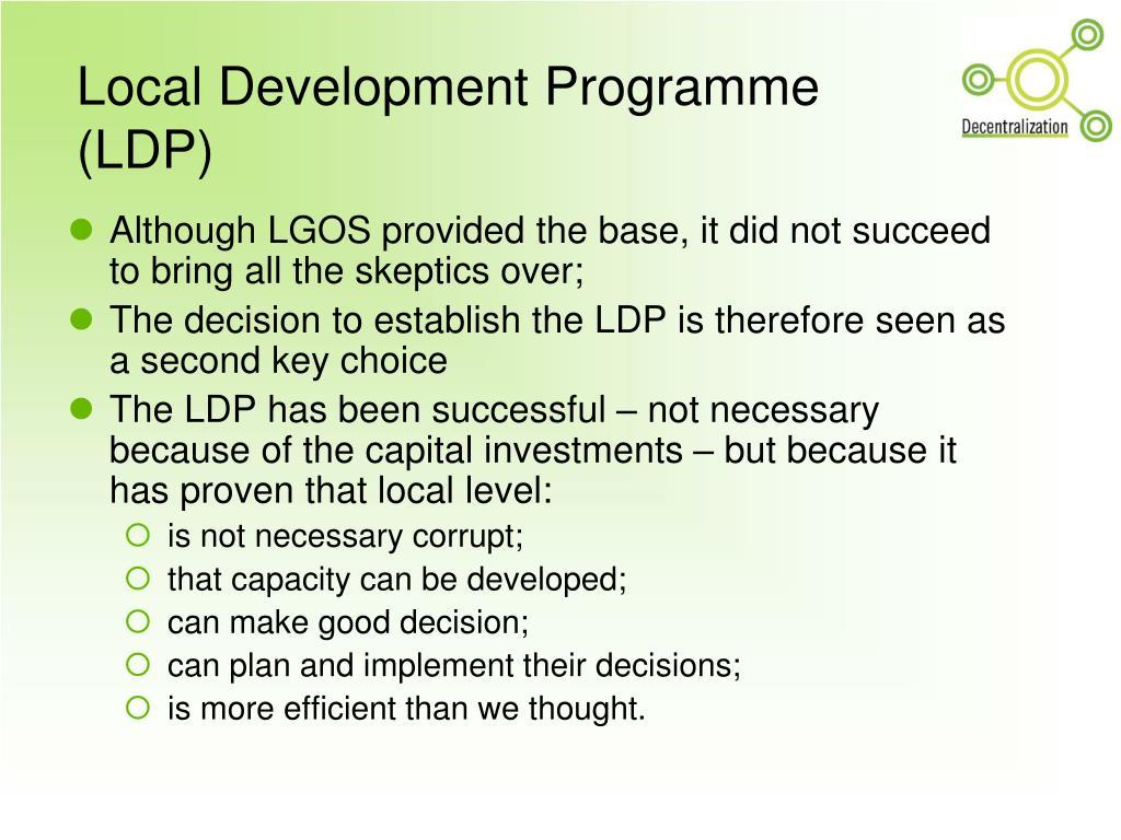 Local Development Programme (LDP)