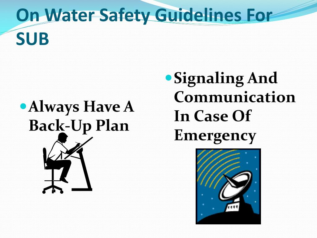 On Water Safety Guidelines For SUB