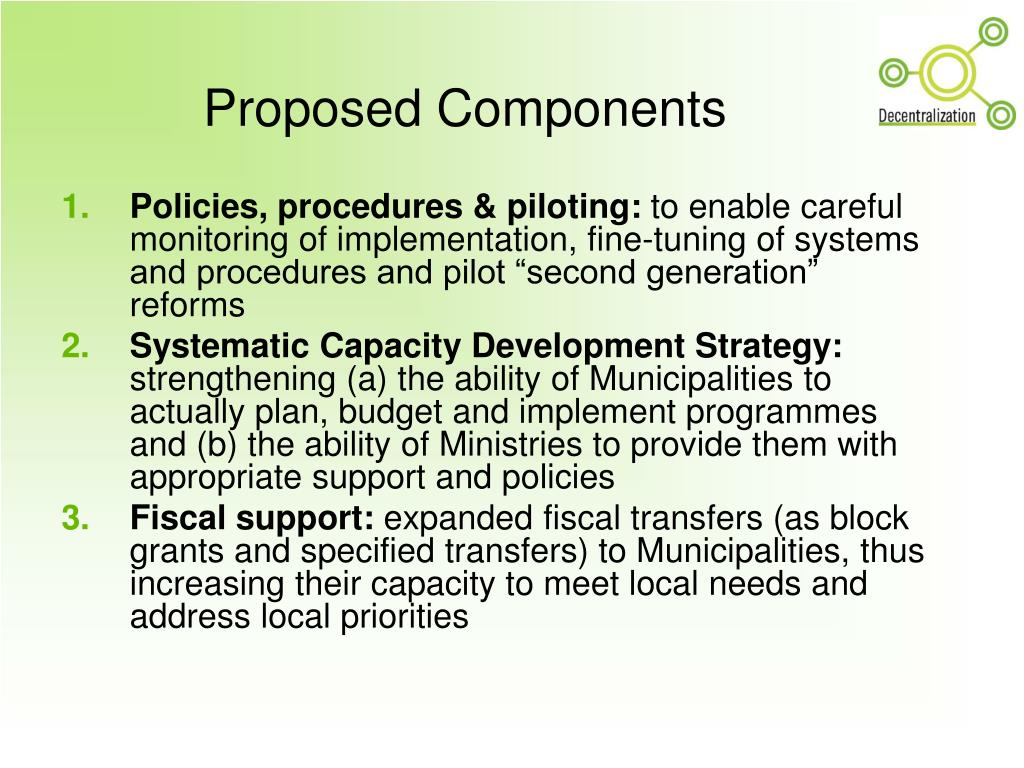 Proposed Components