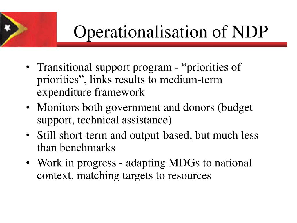 Operationalisation of NDP