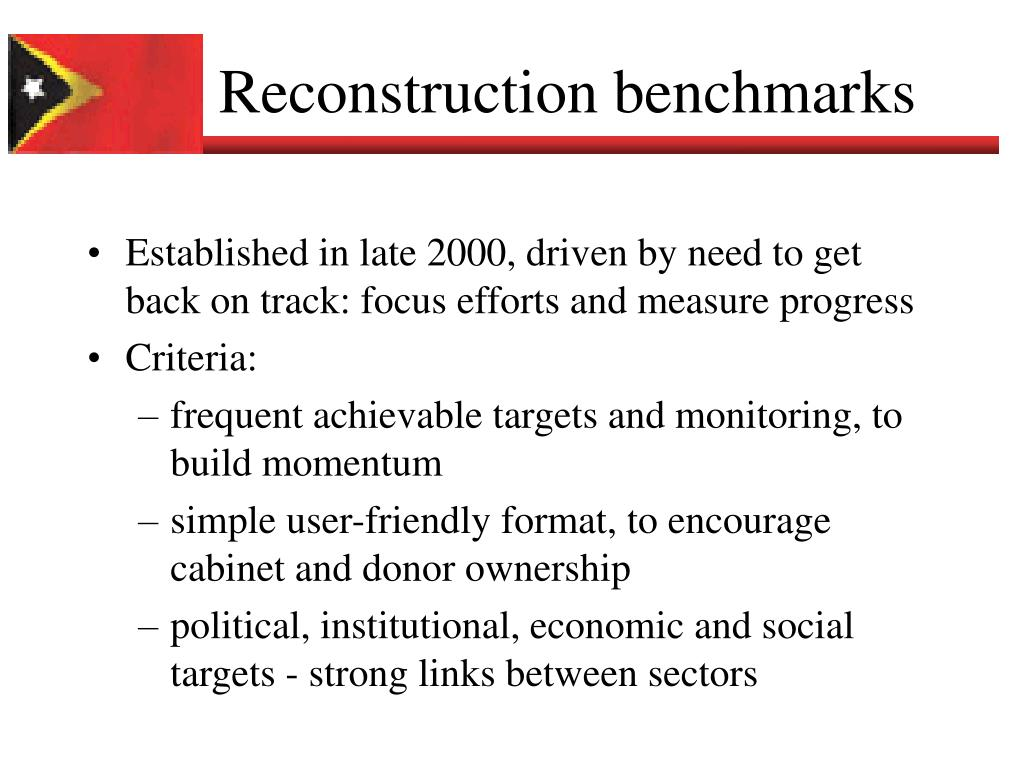 Reconstruction benchmarks