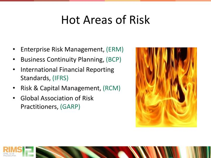 Hot Areas of Risk