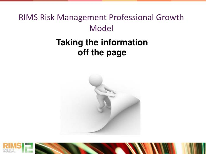 Rims risk management professional growth model