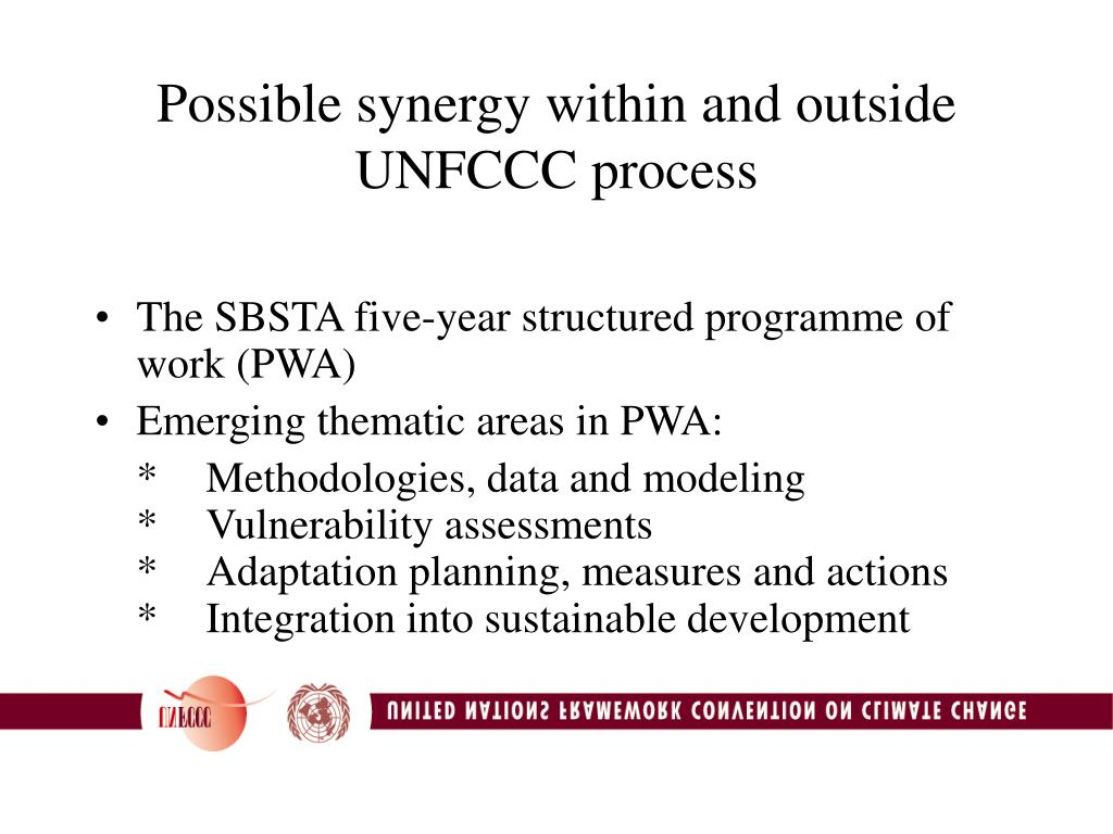 Possible synergy within and outside UNFCCC process