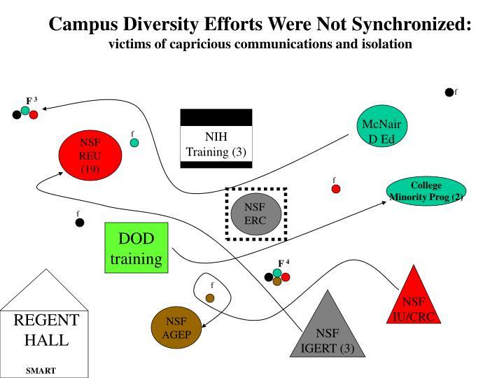 Campus Diversity Efforts Were Not Synchronized: