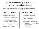 colorado diversity initiative is now a big ticket hard line item