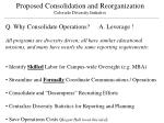proposed consolidation and reorganization colorado diversity initiative4