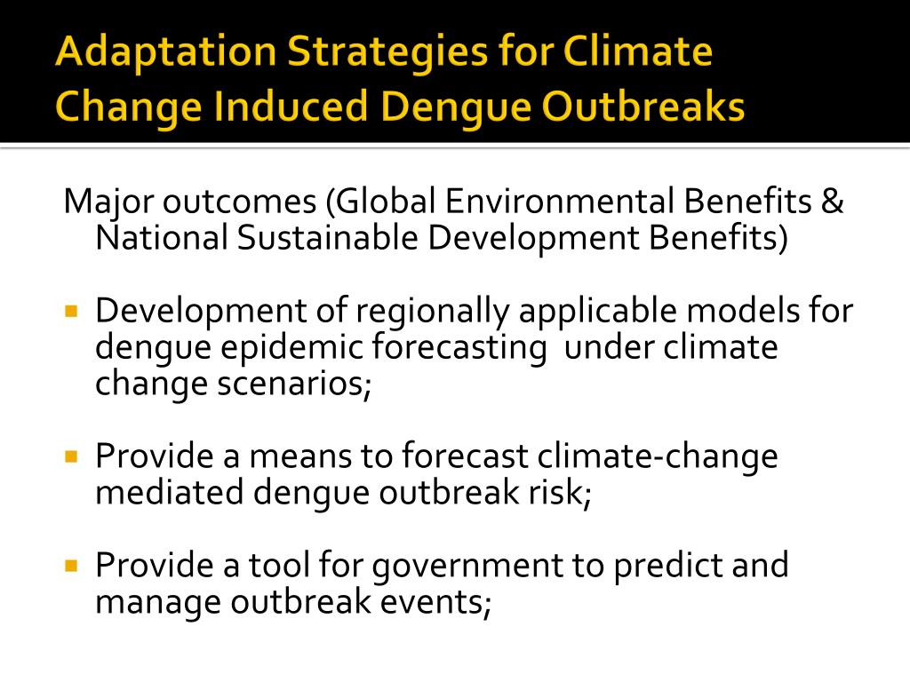 Adaptation Strategies for Climate Change Induced Dengue Outbreaks