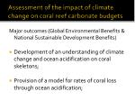 assessment of the impact of climate change on coral reef carbonate budgets24