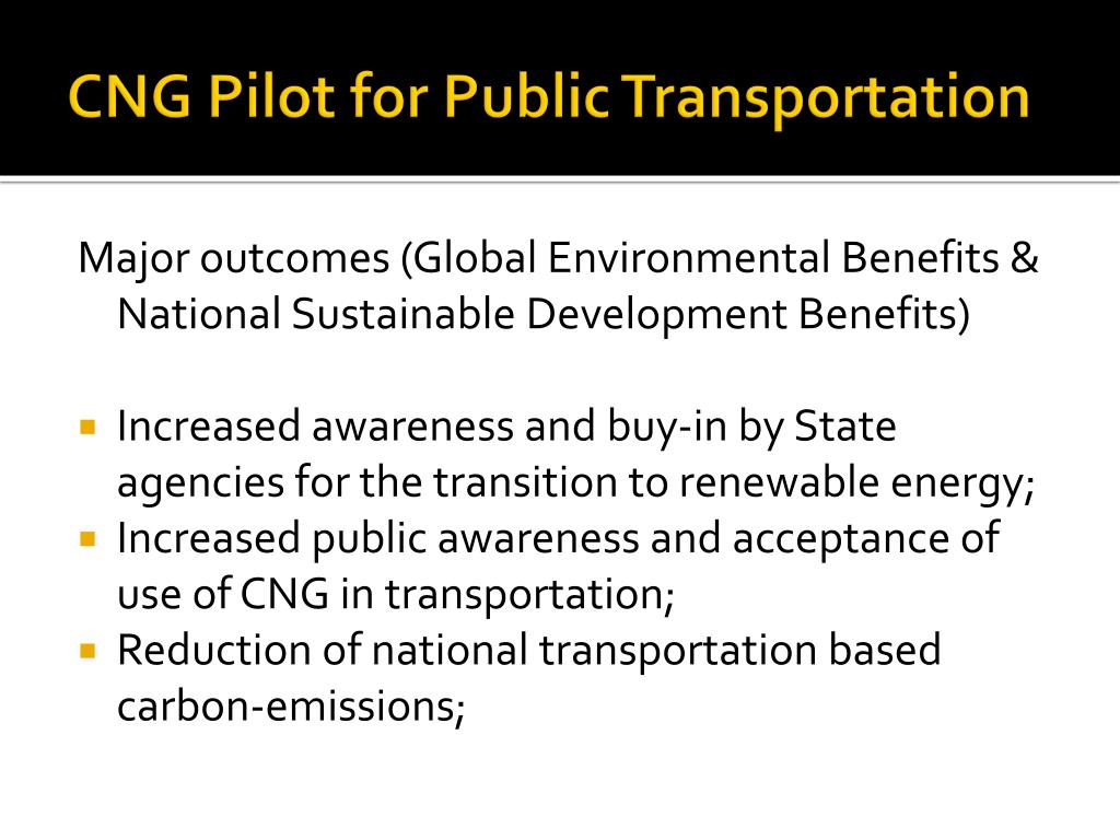 CNG Pilot for Public Transportation