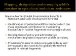 mapping designation and managing wildlife corridors in agricultural and urban landscapes30