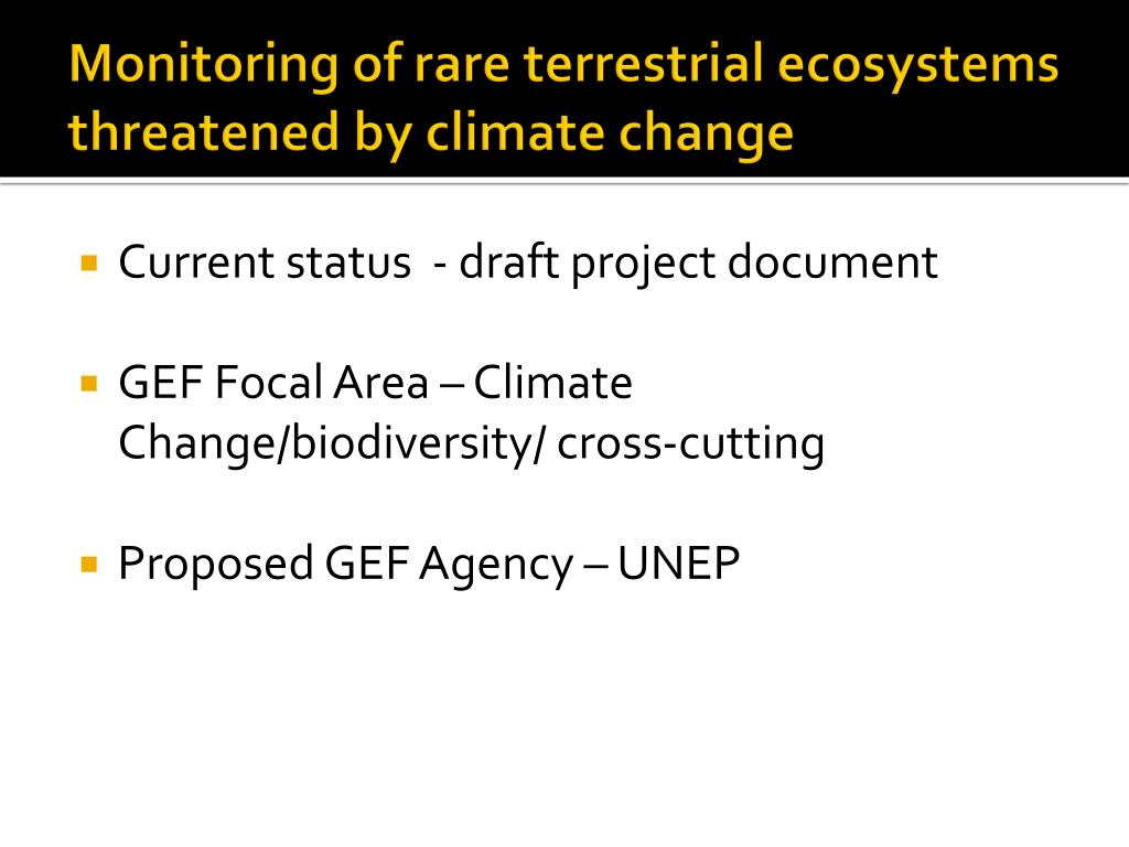 Monitoring of rare terrestrial ecosystems threatened by climate change