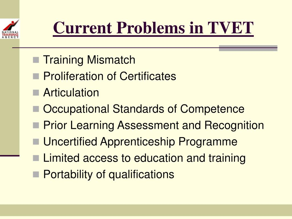 Current Problems in TVET