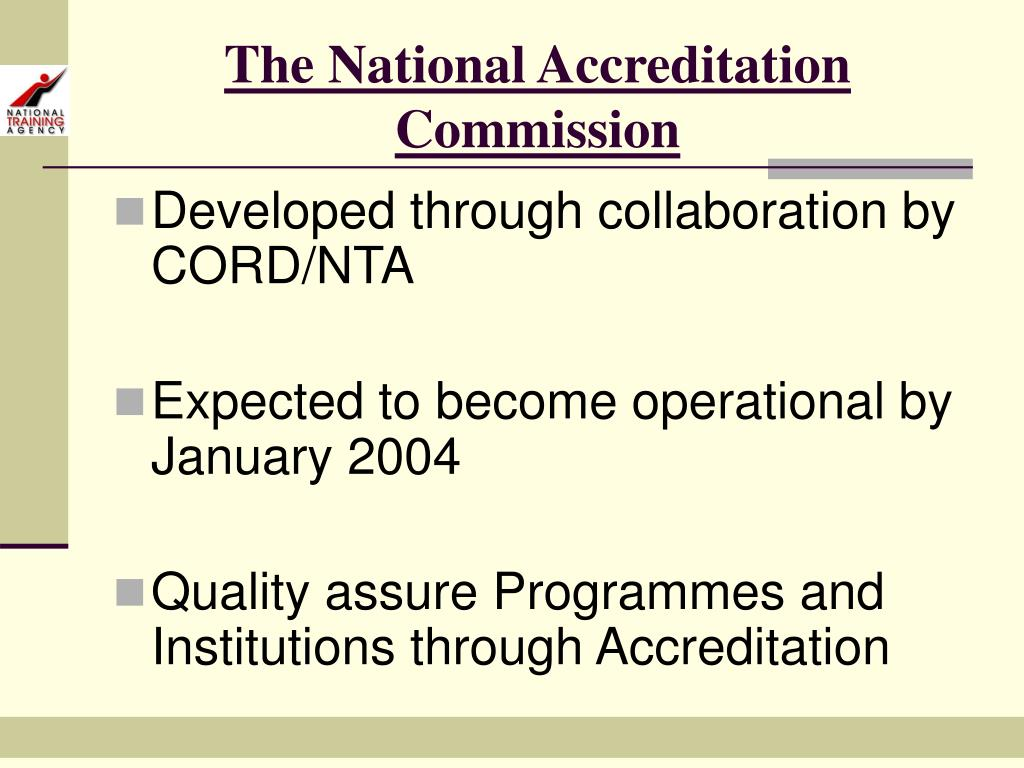 The National Accreditation Commission