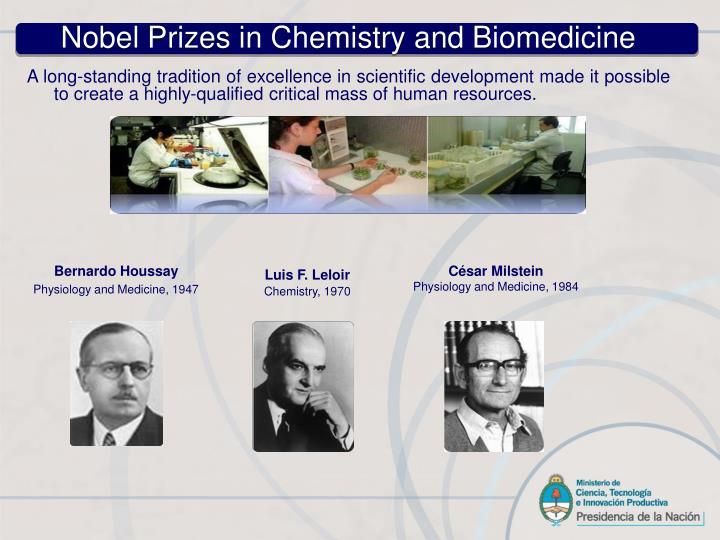 Nobel Prizes in Chemistry and Biomedicine