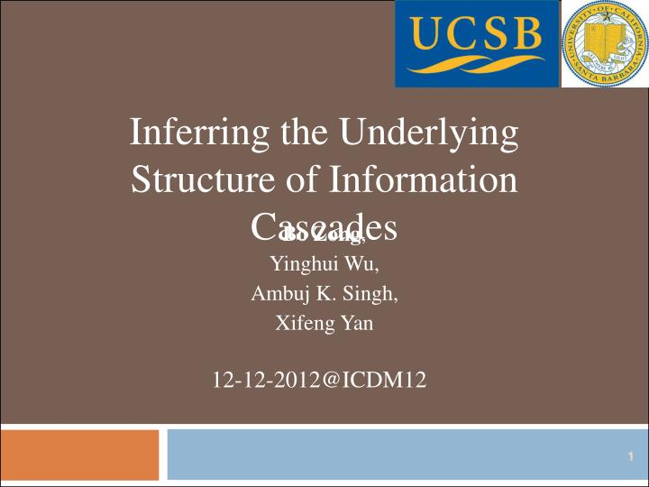 Inferring the Underlying Structure of Information Cascades