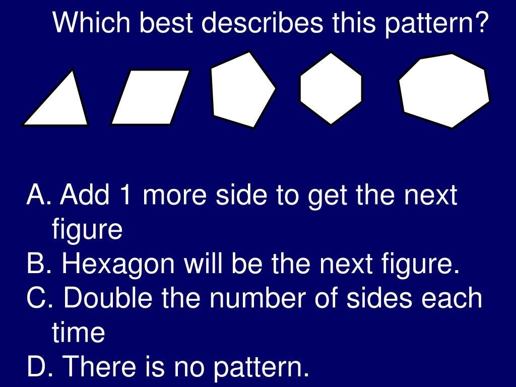 Which best describes this pattern?