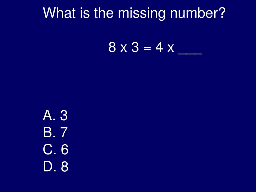 What is the missing number?