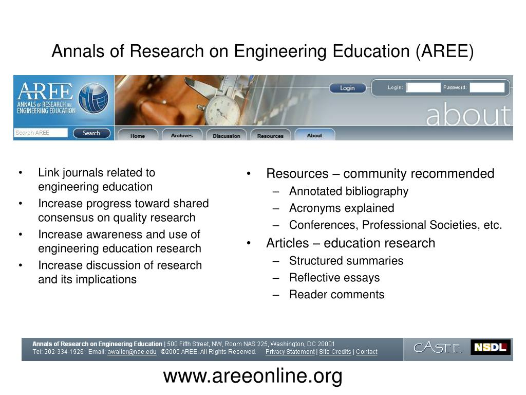 Annals of Research on Engineering Education (AREE)