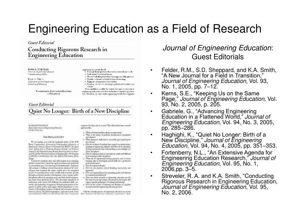 Engineering Education as a Field of Research