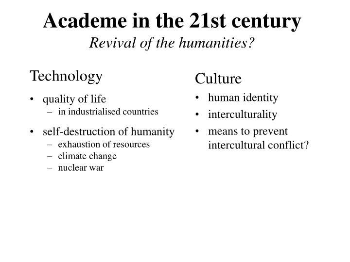 Academe in the 21st century